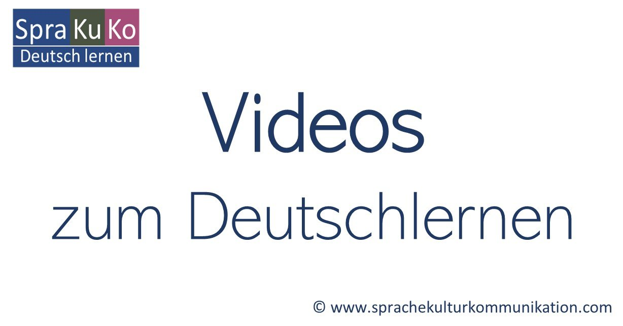Videos zum Deutschlernen YouTube - Sprakuko