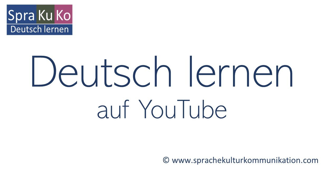 Deutsch lernen YouTube